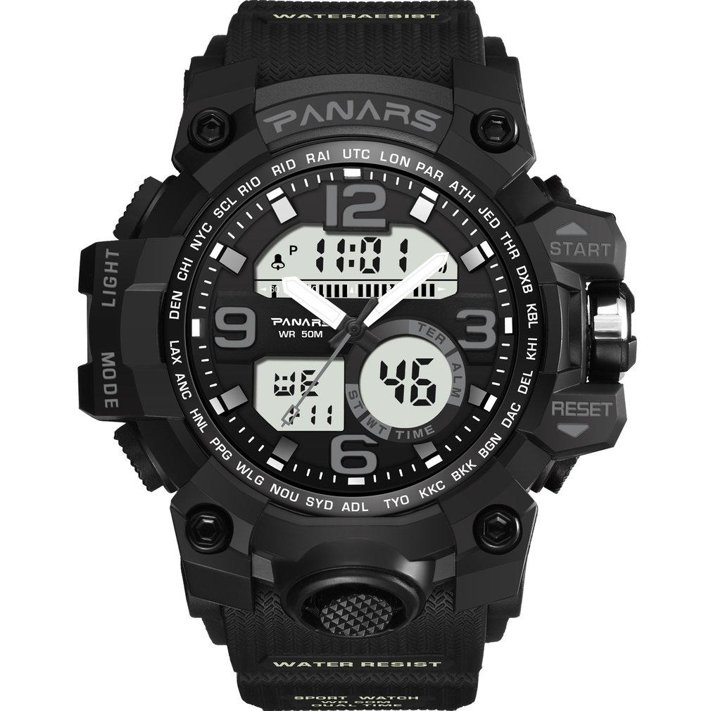 Digital Watch Outdoor Sports Running Waterproof Men for Boys Gift Led-Display Riding