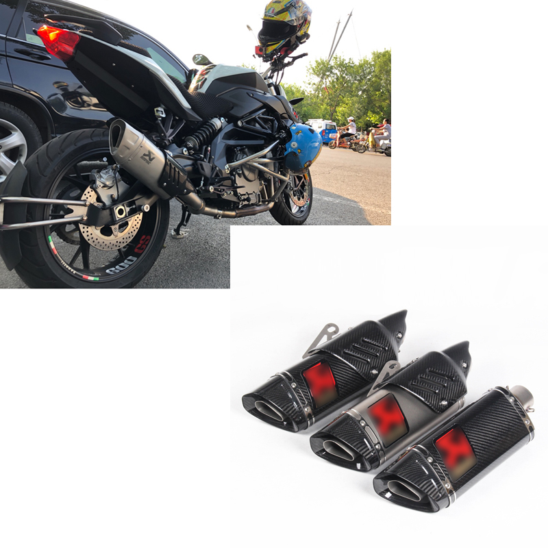 500cc 600cc r11 carbon motorcycle exhaust pipe muffler R6 R1 CBR500 Z750 exhaust tubo escape moto escapamento de moto mokali tubo escape moto universal refires cb400 cbr29 motorcycle modified exhaust end to end exhaust pipe escapamento motocross