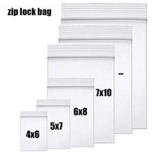 High-end Clear Zip Lock Ziplock Bags Thick plastic Food package Storage lock bag Small Jewelry packing Reclosable poly bags