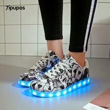 7ipupas Unisex led light up Luminous Shoes Colorful Glowing sneakers kids Usb Te