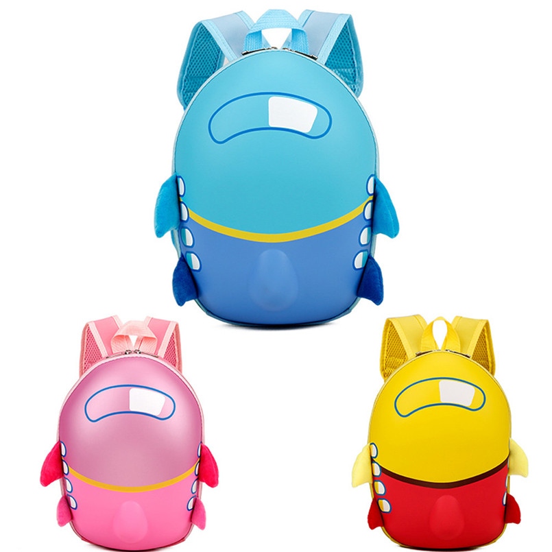 2018 Hot Sale Backpack Baby Girls Boys Kids Cute Airplane Rucksack Cartoon Eggshell Backpack Lovely Toddler School Bag mochila T