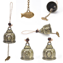 1 Pcs Gift Ambachten Voor Good Luck Lucky Zegen Feng Shui Wind Chime Boeddhabeeld Patroon Bell Fortuin Thuis Auto opknoping Decor(China)