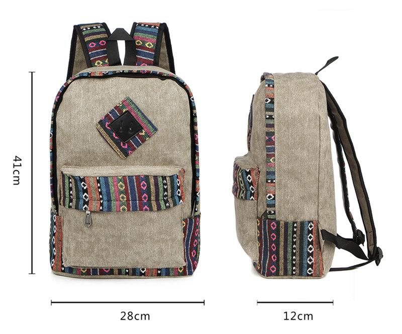 Vintage School Backpack 8