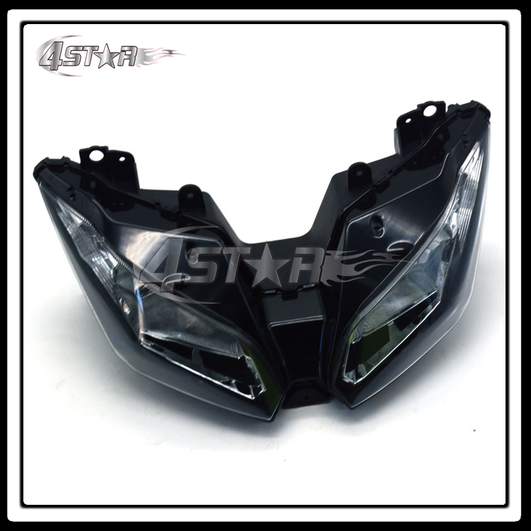 Motorcycle Black Front Headlights Headlamps Head Lights Lamps Assembly For NINJA300 EX300 2013 2014 2015 Supermoto Free Shipping