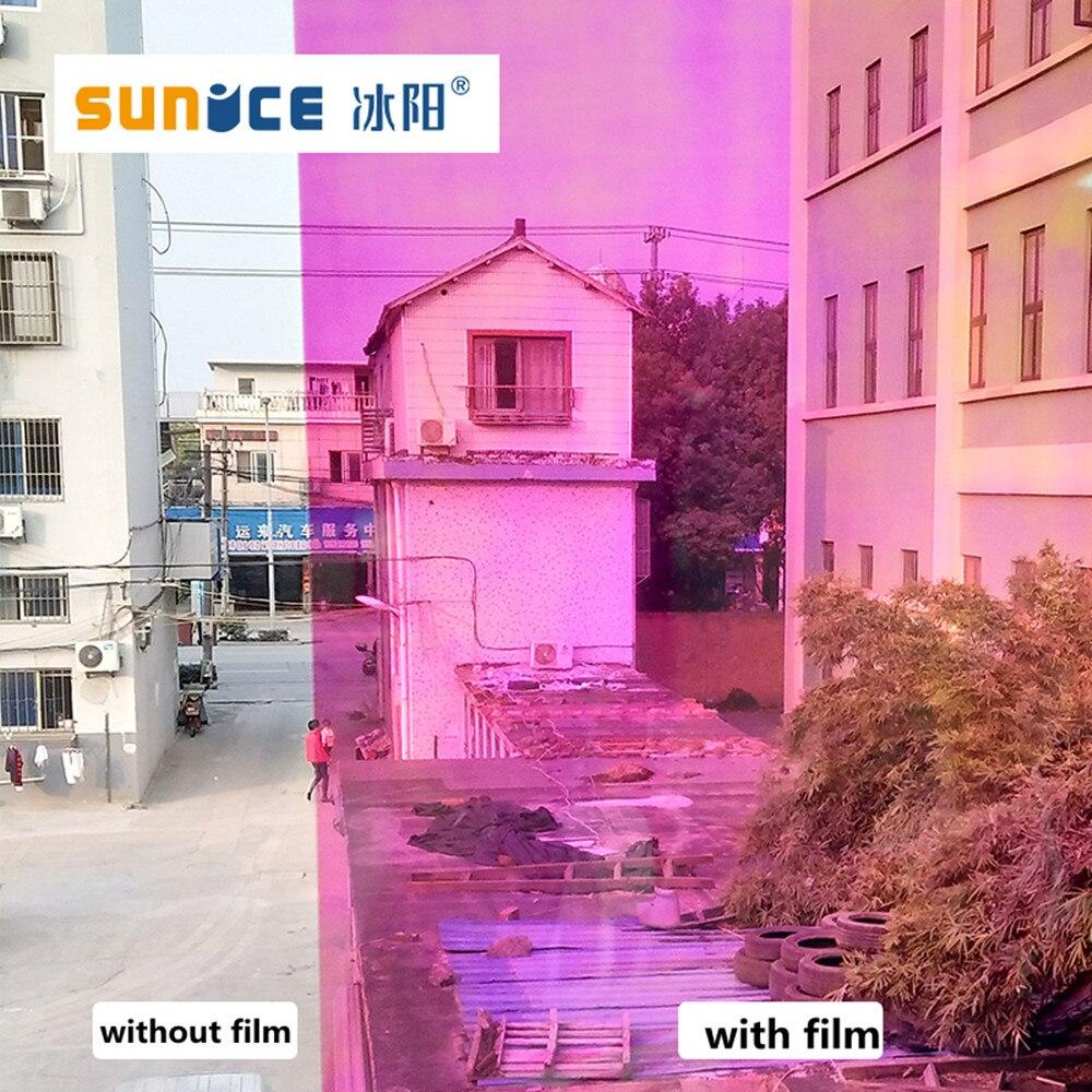 Caméléon arc-en-ciel teinte solaire Film bricolage décor feuilles de fenêtre autocollant auto-adhésif imperméable vinyle décoratif Film de fenêtre 1x5 m