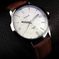 YAZOLE Sports Men Watch Luxury Top Brand Business Male Clock Simple WristWatch Leisure Fashion Leather Quartz