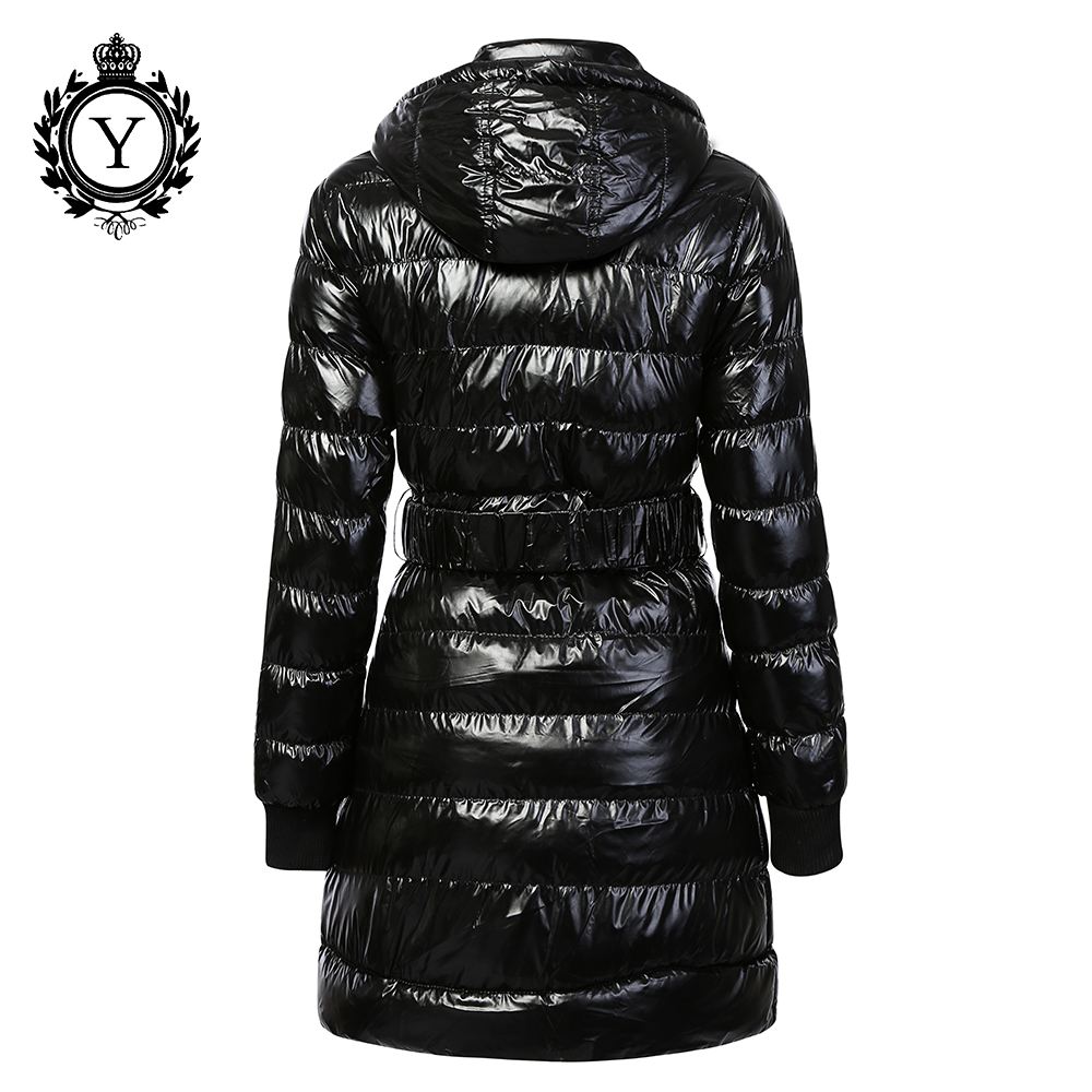 Ladies Long Sleeve Padded Quilted Puffer Jacket Thick Warm Fur Collar Coat