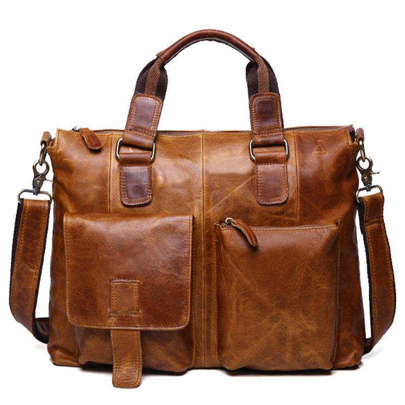 Genuine font b Leather b font font b Handbag b font Men s Messegner Bags Brand