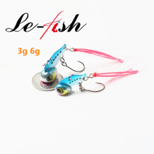 Le-Fish 1Pcs 3g 6g Vib Fishing Lure Zinc Metal Lures Fly  Hard Bait Artificial Freshwater Ice