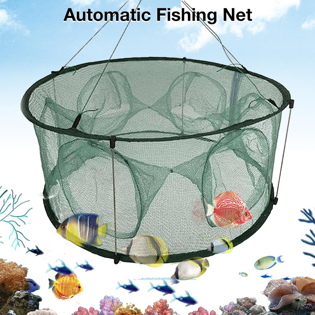 Automatic Fishing Net Trap Cage Round Shape Open For Crab Crayfish Lobster
