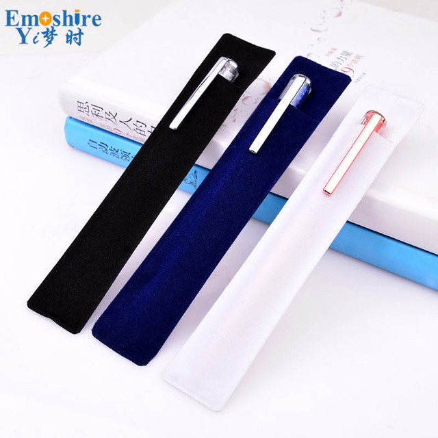 Business Pens Case Packaging Flannel Gift Box Creative Advertising Gifts Stationery Velvet Pencil Case B231