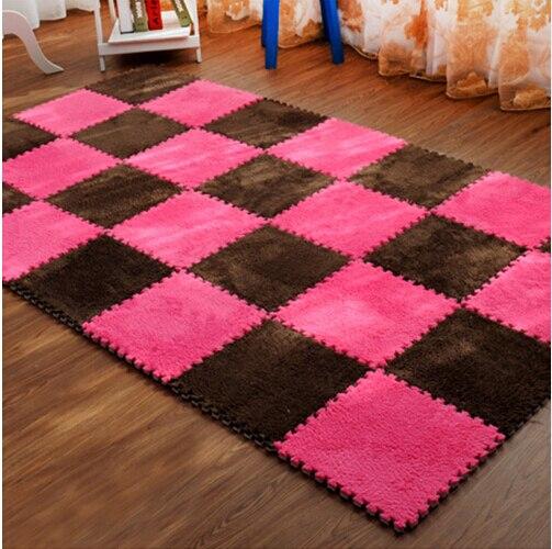 Living Room Bedroom Children Soft Puzzle Patchwork Mat Magic Cube Slip-resistant Carpet Baby Kids Climbing Rug 30CM*30CM