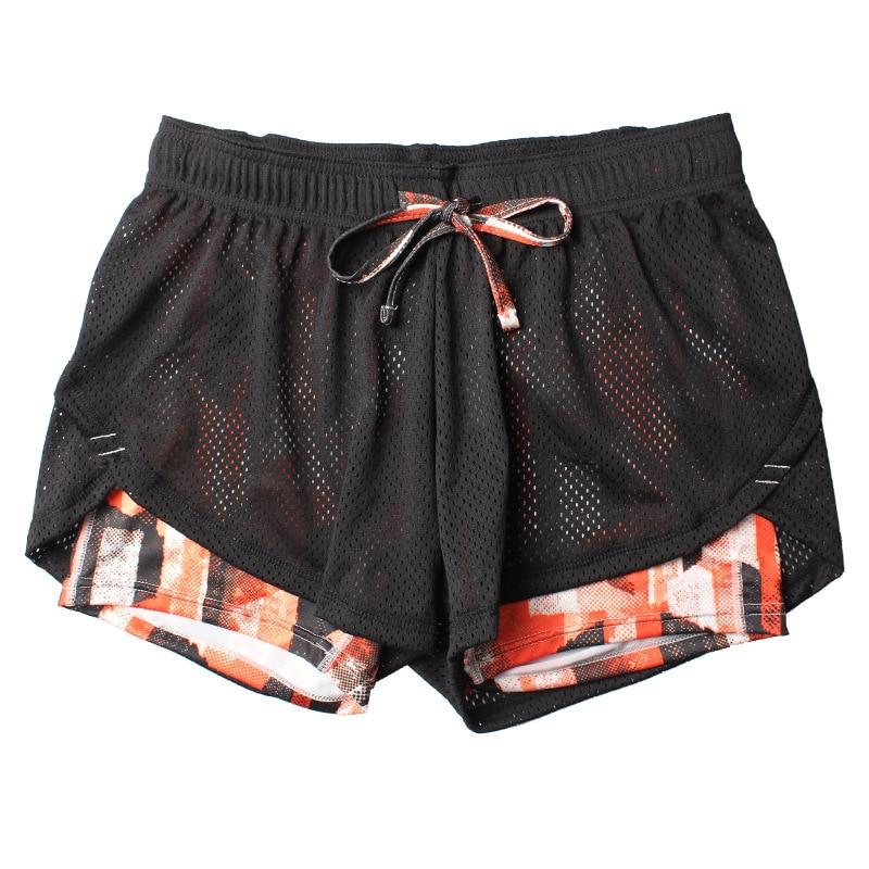 2017 Summer Double Layer Shorts Women Skinny Fitness Shorts Women Elastic Casual Shorts Female Joggings pantalones cortos mujer
