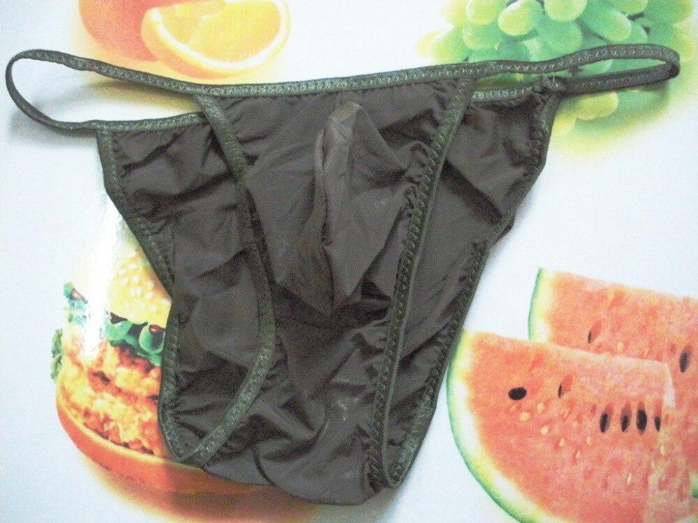 Vente en gros 100 pièces hommes slip taille basse mâle culottes viscose fourche sacs translucide culottes slips pour hommes sous vêtements gai - 5