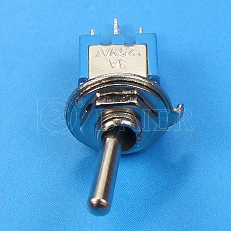 10 шт./партия SMTS-102 миниатюрный переключатель Синий вкл. SPDT 3-Pins 3A 125VAC 1.5A Amps 250VAC с наконечник с припоем 2 способа