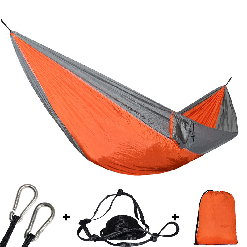 210T Nylon Material Hammock High Quality Durable Safety Adult Hamac For Indoor Outdoor Hanging Sleeping Removable Soft Hamak Bed