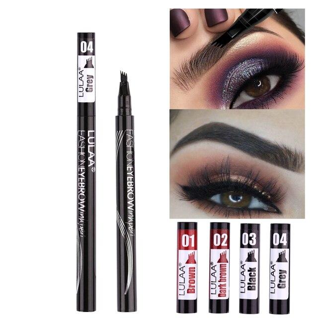 1Pcs Women Makeup Sketch Liquid Eyebrow Pencil  Waterproof Brown Eye Brow Tattoo Dye Tint Pen Liner Long Lasting Eyebrow 4