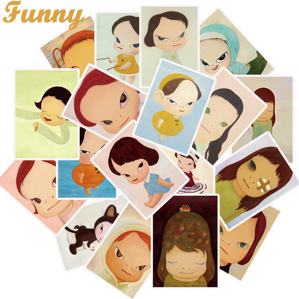 25Pcs/Lot Nara Sleepwalking Dolls Stickers For Laptop Motorcycle Skateboard Luggage Decal Children Toy DIY Sticker