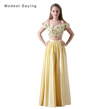 14600f4976173 Buy flower 2 piece prom dresses and get free shipping on AliExpress.com