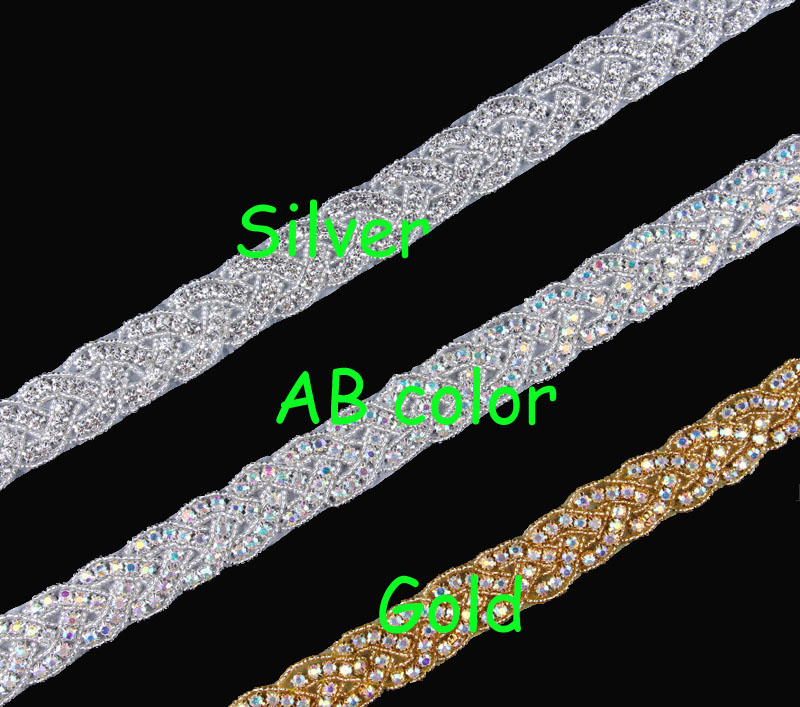 10Yard Mix 3 Colors Fashion Clear Iron on Beaded Rhinestone Applique Trim  Sewing Hot Fix Bridal Crystal Trimming For Garter Sa-in Rhinestones from  Home ... e447aa1d80c7