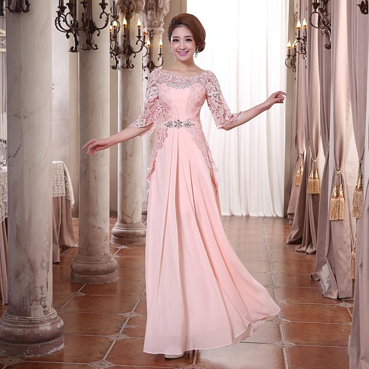 Half Sleeve Lace Elegant Chiffon Princess Luxury Diamond