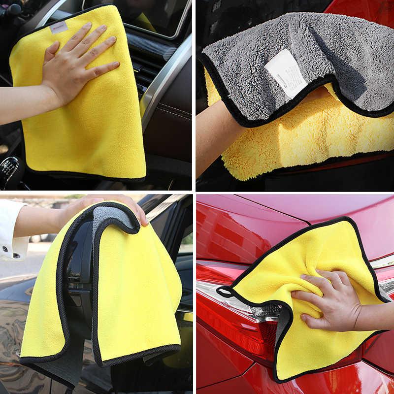 Perawatan Mobil Handuk Microfiber Mencuci Pengeringan Handuk Kuat Tebal Plush Pembersih Serat Kain Merinci Mencuci Kain Aksesoris