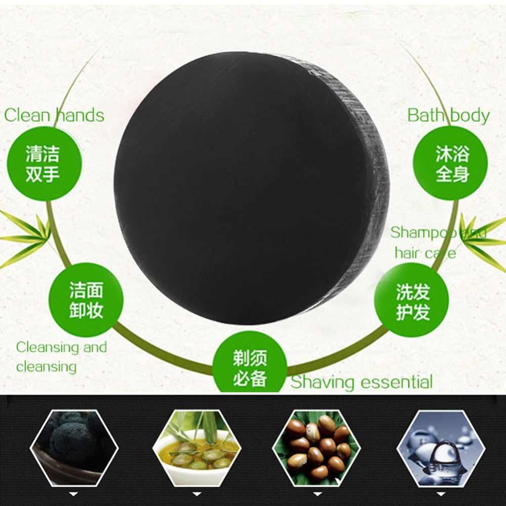 Węgiel aktywny kryształy mydło wyrabiane ręcznie skóra twarzy mydło wybielające do usuwania zaskórników i kontrola oleju mycie PE3