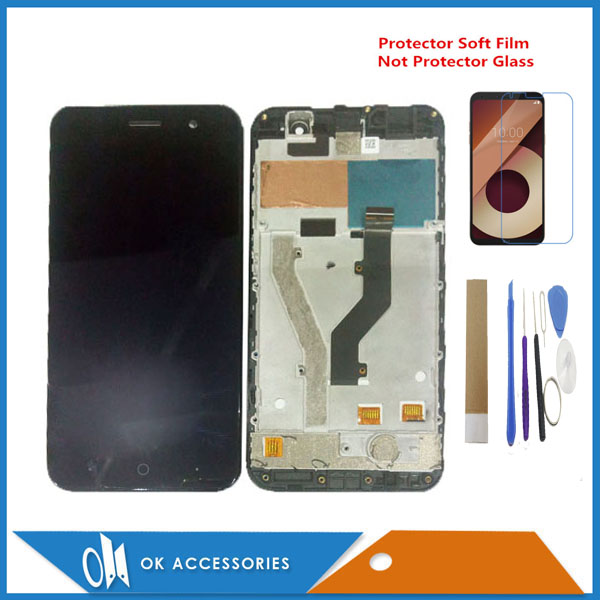 5.0 Inch For <font><b>ZTE</b></font> <font><b>Blade</b></font> <font><b>A520</b></font> LCD Display+Touch <font><b>Screen</b></font> Digitizer Assembly With Frame Black Color With Kits image