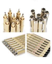 8 teile/paket Nadel Zeichnung Stift Art Sets Haken feine punkt Linie Stift
