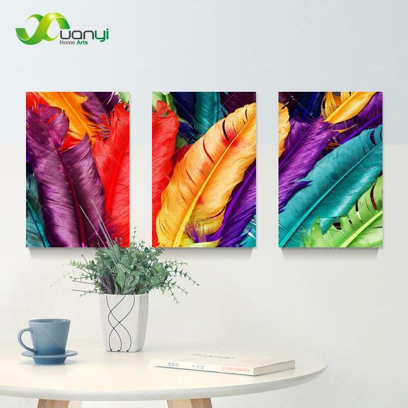 Pluma Bodegón Lienzo Pintura Al Óleo Cuadros Decoración Del Hogar - Decoración del hogar - foto 3