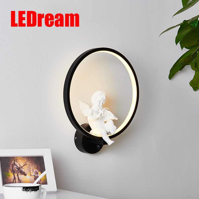 Creative Nordic Angel Led Wall Lamp Wall Lamp Sitting Room Contemporary And Contracted Study Children Warm