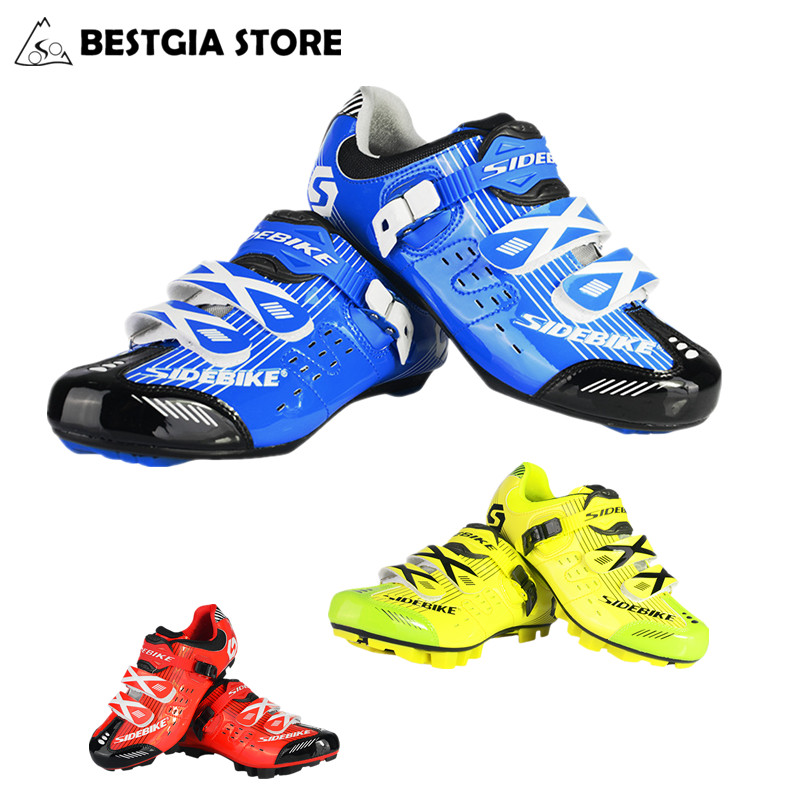 Men/Women Professional Athletic ultra light bike shoe self-locking road Bicycle shoe breathable&antiskid  mountain Cycling Shoes vik max athletic shoe women tricot lined figure ice skates shoes