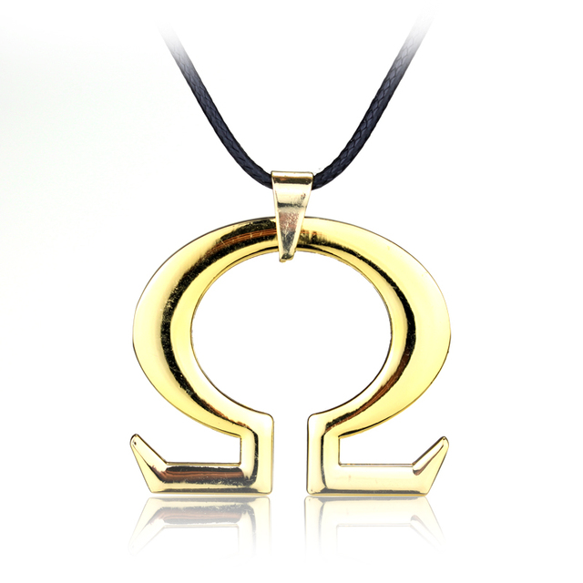 Rongji jewelry god of war kratos long necklace omega symbol rongji jewelry god of war kratos long necklace omega symbol pendant golden jewelry for man and mozeypictures Image collections