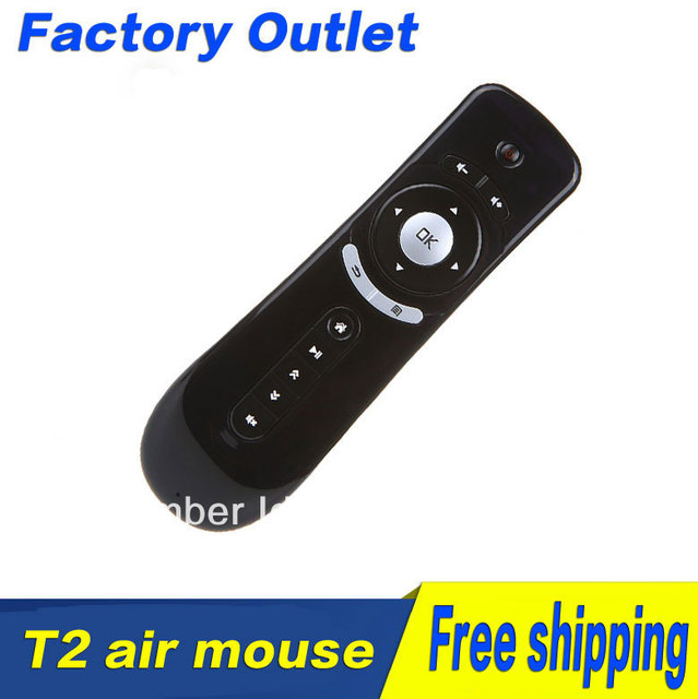 Fly Air Mouse T2 AF100 2.4G Wireless Android RemoteGyroscope  Mice  Control 3D Motion  Combo Computer Peripheral Free Shipping