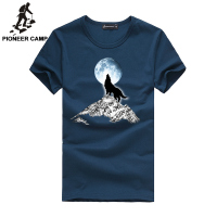Free Shipping Men S T Shirt With Wolf Head Printing Adolescent S T Shirt O Neck