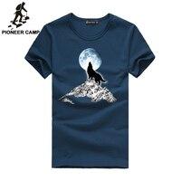 Pioneer camp 2017แฟชั่นพิมพ์หมาป่าแบบสบายๆเสื้อยืดสีขาว/สีดำแฟชั่นหนุ่มตลก