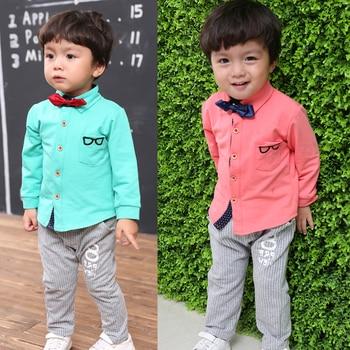 Boutique Kids Clothes Boys Autumn Children Clothing Sets Gentleman Toddler Formal Birthday Dress Baby