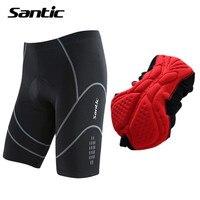 Santic Cycling Shorts Men Summer Coolmax 4D Padded Shockproof MTB Road Bike Riding Short Reflective Bermuda Ciclismo Size S XXXL