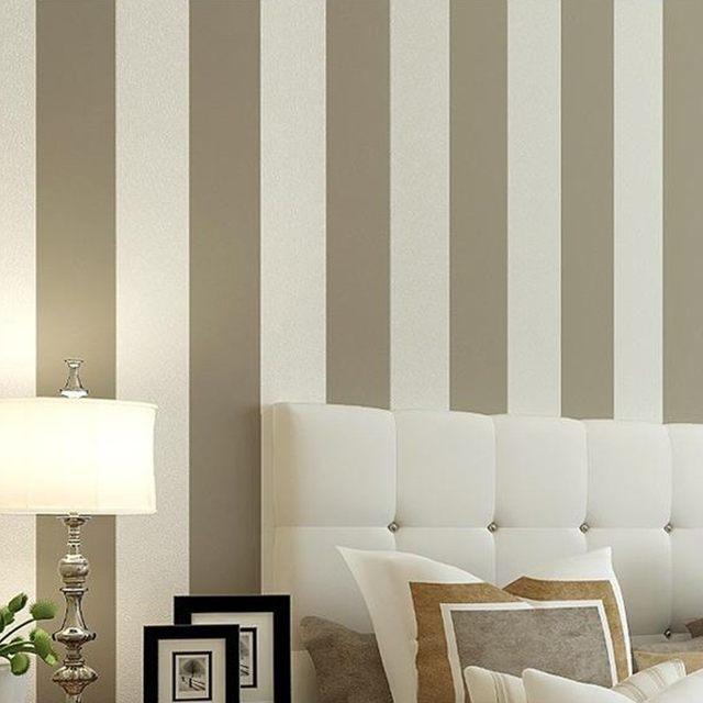 beautiful simple amplia rayas verticales del papel pintado para paredes amarillo beige y blanco de papel de pared with papel pintado de rayas verticales - Papel Pintado Rayas Verticales