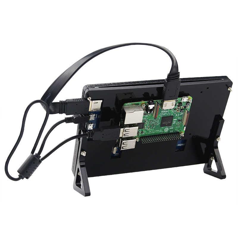 شاشة 7 بوصة راسبيري بي 3 شاشة LCD 800*480 1024*600 راسبيري بي 4 HDMI تعمل باللمس لراسبيري بي 4 3 موديل B 3B Plus
