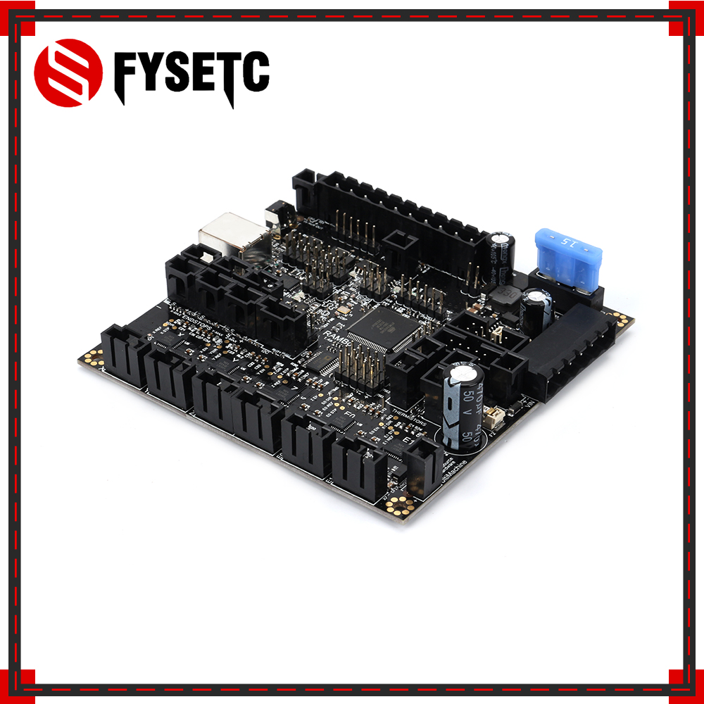 Carte mère RAMBo 1.4 RAMBo V1.4 carte Arduino MEGA et pilotes pas à pas tous sur un PCB intégré pour imprimante 3D Lulzbot Taz6