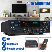 220V 240V 1388 2*200W Bluetooth Stereo 2.0 Amplifier HiFi Power Remote Control USB SD Aux Mic Input Auto Amplifier