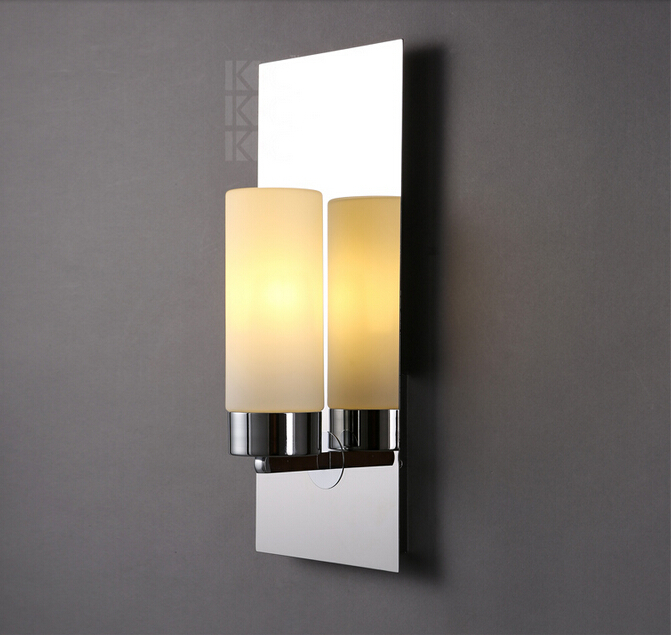 New chrome modern led wall lamps sconces lights bathroom kitchen new chrome modern led wall lamps sconces lights bathroom kitchen wall mount lamp cabinet fixture candlestick candle wall sconce in led indoor wall lamps aloadofball Image collections