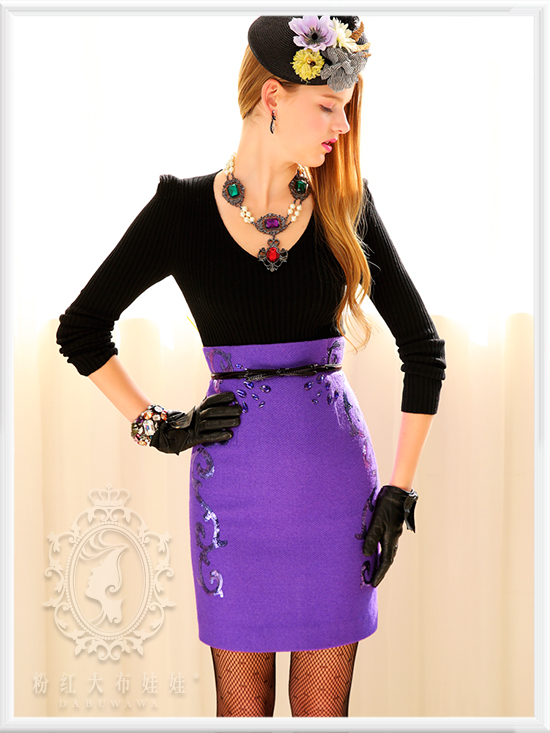 Popular Purple Sequin Skirt-Buy Cheap Purple Sequin Skirt lots ...