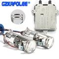 gzkafolee Car Headlight Bulbs h4 Xenon hid lossless xenon Mini Projector Double Lens Shrouds Headlight 12V 4300K 6000k 8000k 55W