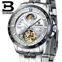 Switzerland BINGER Watch Men Luxury Brand Mens Watches Tourbillon Automatic Mechanica Wristwatch Sapphire reloj hombre B MS10001