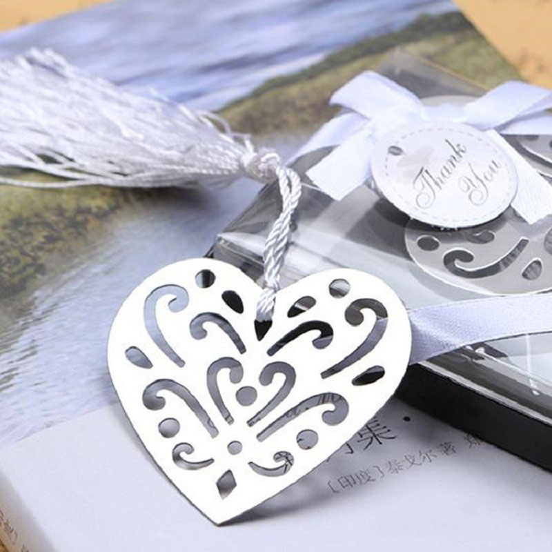 80PCS Personalised Heart Bookmark First Communion Gifts Girl Baby Shower Baptism Giveaway Wedding Souvenirs Favors Guest