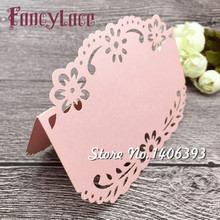 Hot Laser Cut Paper Lace Flower Place Card Wedding Table Holder For Party Decor Number, Invitation Cards, 50pcs