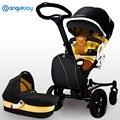 Nova Chegada Alta Paisagem Carrinho De Bebê 2 em 1, carrinho de bebé Plus + Alcofa, moda Folding Pram Do Bebê, Carrinho de bebê