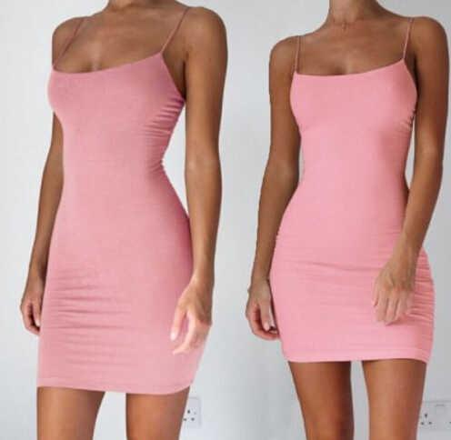 5a1ba401c2e Detail Feedback Questions about Summer Dress Women Sleeveless Casual  Sundress Sexy Tight Cotton Mini Dress Bodycon Slim Dress Women Clothes  Summer on ...